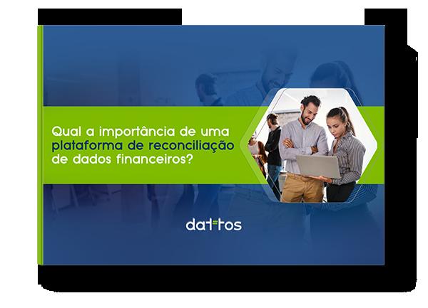 Mock up do e-book qual é a importância de uma plataforma de reconciliação de dados financeiros?