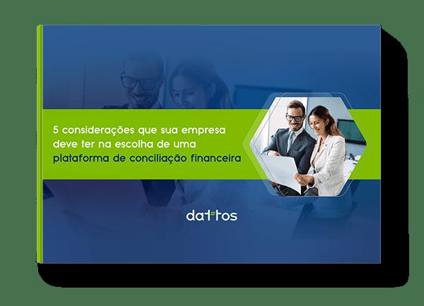 Mock up - Ebook sobre as 5 considerações que sua empresa deve ter na escolha de uma plataforma de conciliação financeira