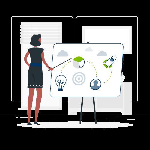Ilustração de um planejamento estratégico