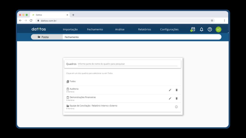 Quadros de atividade - Dattos Tasklist