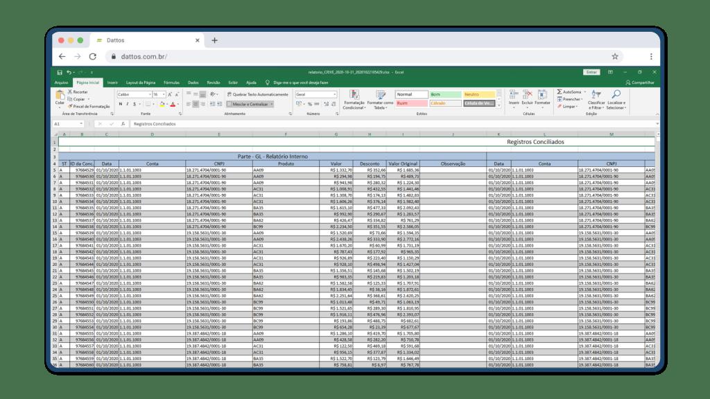 Exemplo de arquivos de upload na solução Dattos Prep